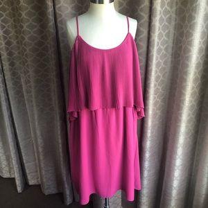 Two tiered purple dress